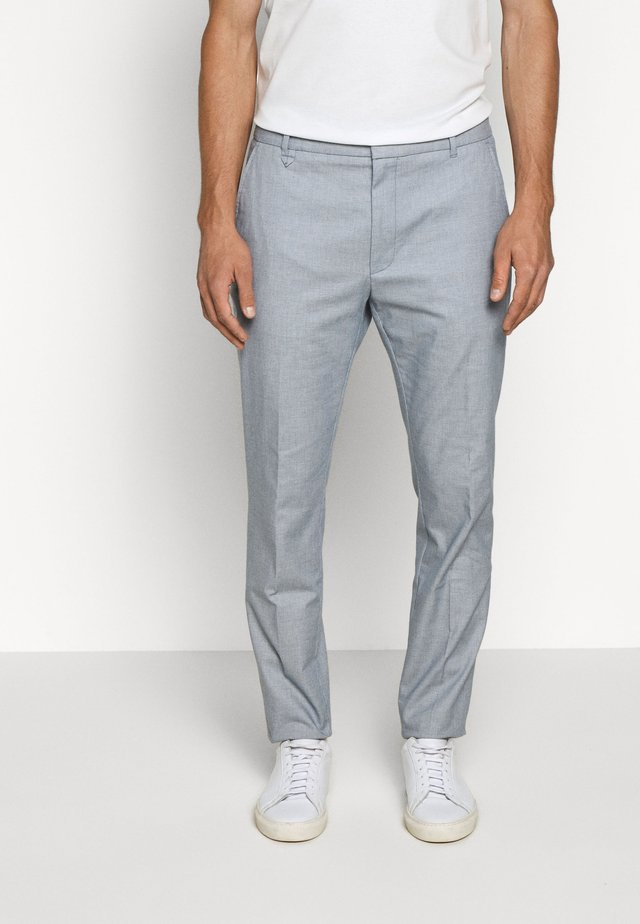 HELDOR - Suit trousers - light/pastel blue