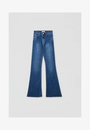 FLARE - Bootcut jeans - mottled blue