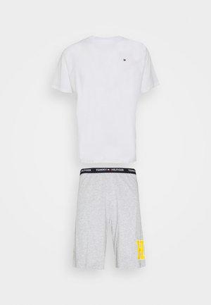 SET - Pyjamas - white/greyheather