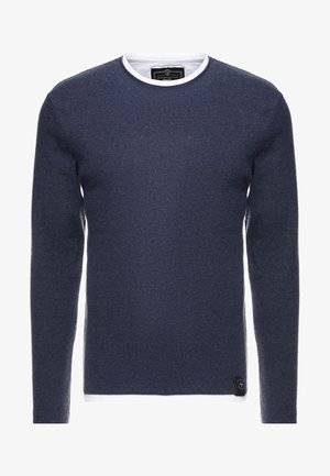 SARASOTA ROUND - Stickad tröja - dark blue melange