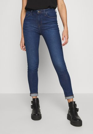 SCARLETT HIGH - Jeansy Skinny Fit - dark-blue denim