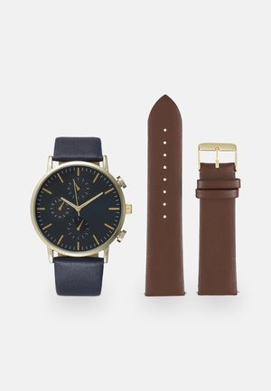 SET - Watch - dark brown/blue