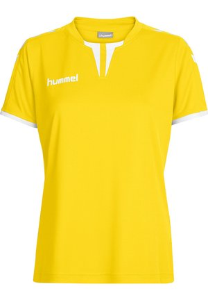 CORE SS - Print T-shirt - sports yellow pr
