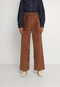 Dedicated - WORKWEAR PANTS VARA - Trousers - friar brown - 0