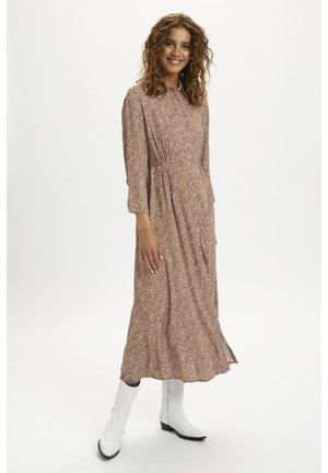 Shirt dress - rose brown flower mix