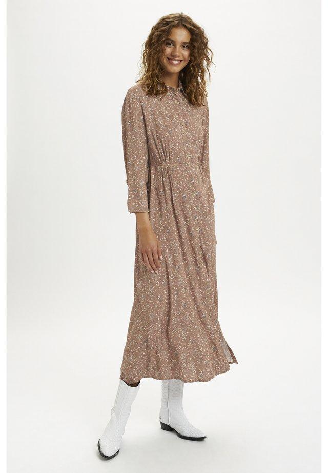 Robe chemise - rose brown flower mix