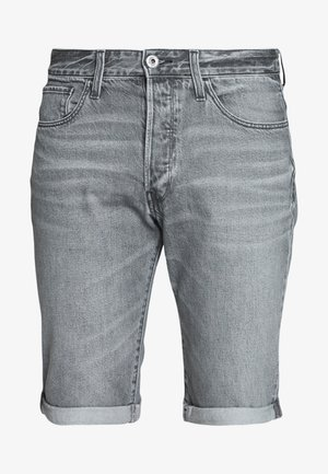 3301 SHORT - Džínové kraťasy - sato black denim/sun faded black stone