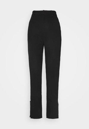 SUIT PANTS - Trousers - black