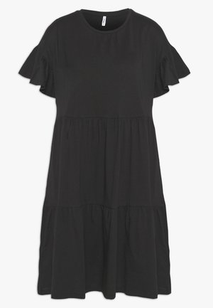 ONLTENNA LIFE CUTLINE DRESS - Žerzejové šaty - black