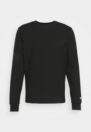 BASE - Long sleeved top - black/white