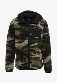 Hollister Co. - EXTERIOR SHERPA  - Fleece jacket - green camo - 4