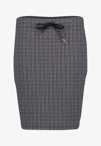 Pencil skirt - bleu/blanc