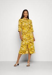 ONLY - ONLNOVA LUX DRESS - Day dress - golden yellow/white - 3
