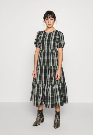CHECK TAFFETA - Korte jurk - green