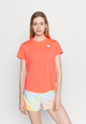 ACCELERATE SHORT SLEEVE - Basic T-shirt - vivid coral