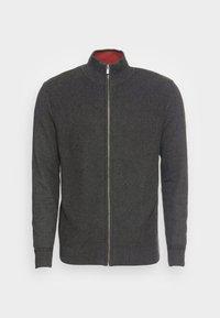 BASIC STRUCTURE ZIP JACKET - Vest - black grey melange