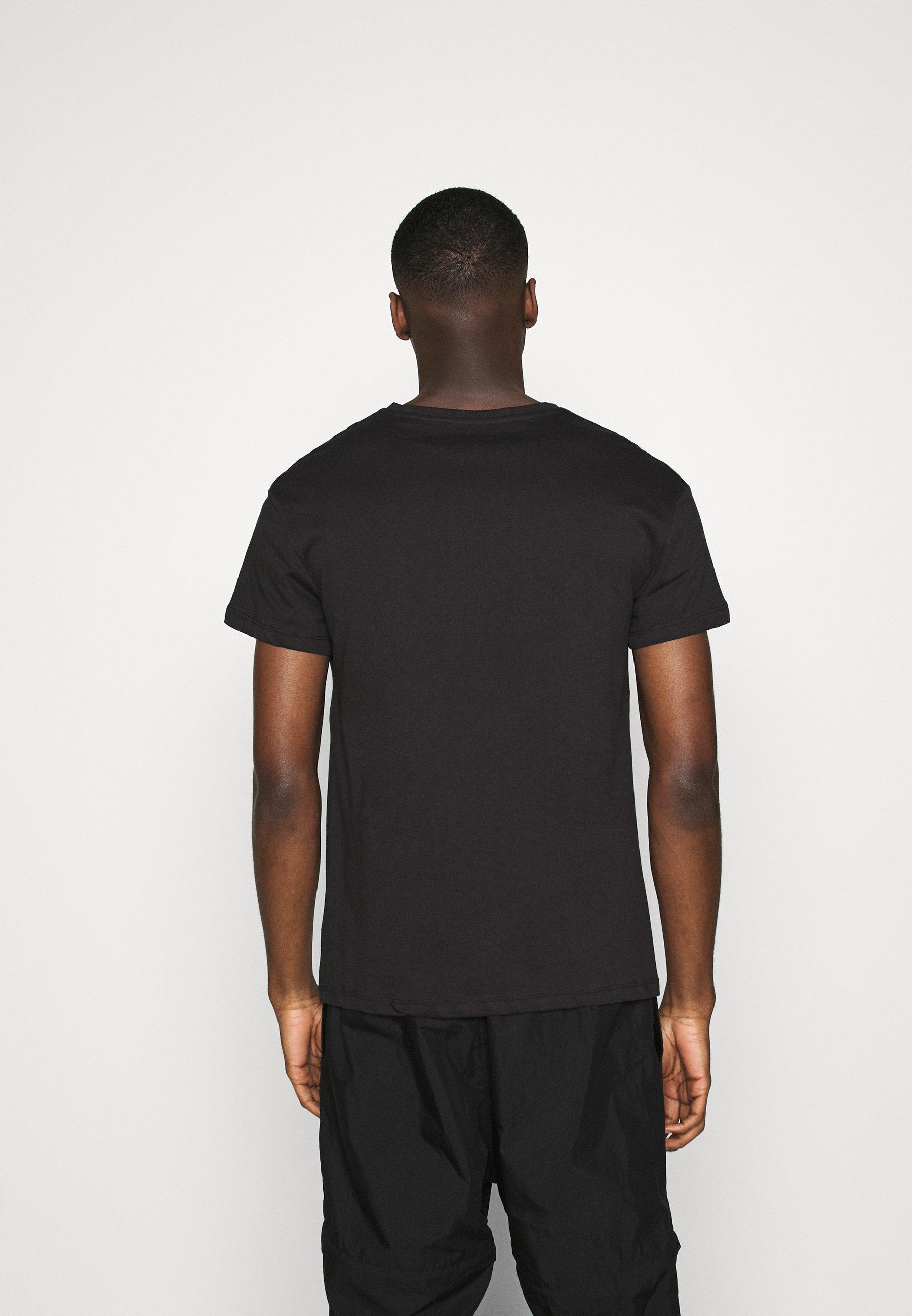 Jack & Jones PREMIUM JPRBLAMERGE TEE CREW NECK - Print T-shirt - black nYzvc