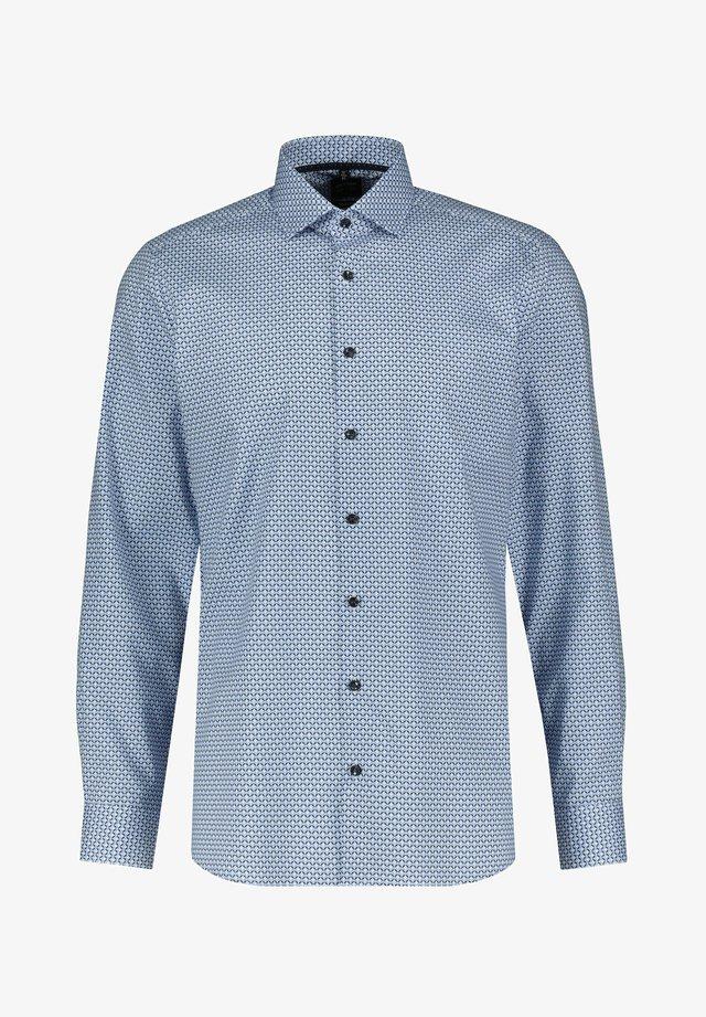LEVEL FIVE HERREN SLIM FIT LANGARM - Shirt - bleu (50)
