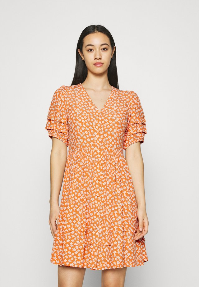 YASLURA DRESS - Skjortklänning - raw sienna/lura