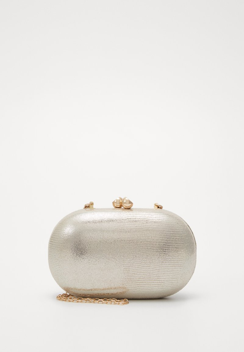 Dorothy Perkins - ROUNDED SNAKE BOX CLUTCH - Clutch - gold