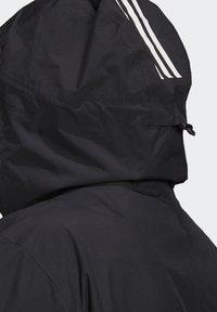 adidas Performance - BSC 3-STRIPES FOUNDATION PRIMEGREEN RAIN.RDY OUTDOOR JACKET - Waterproof jacket - black - 5