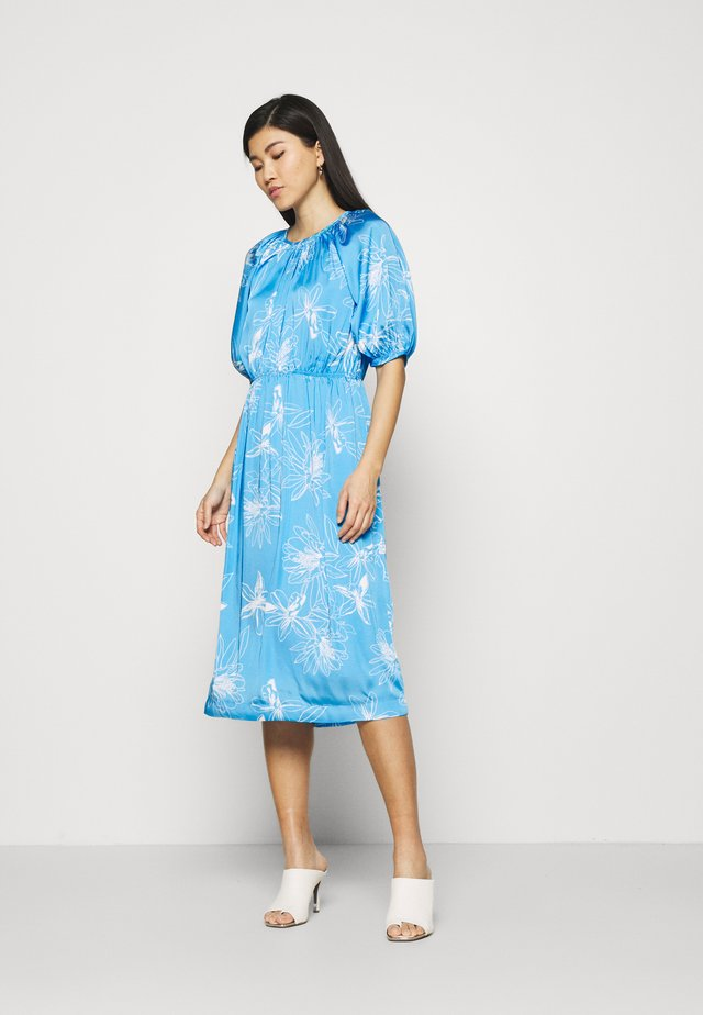 FLORAL DRES 2-IN-1 - Korte jurk - light blue