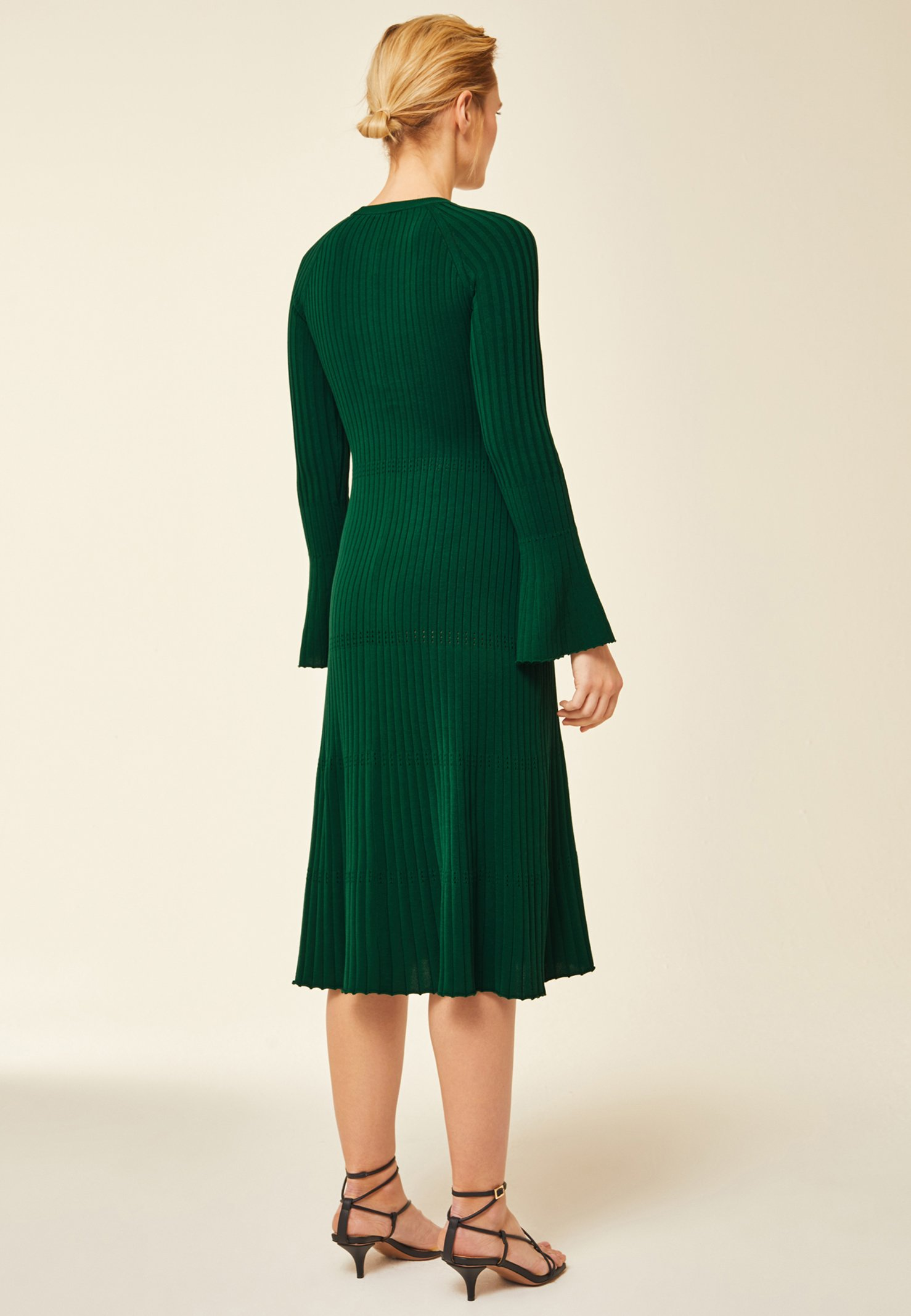 IVY & OAK Stickad klänning green Zalando.se