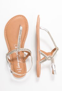 New Look Wide Fit - WIDE FIT GLITZ - T-bar sandals - silver - 3