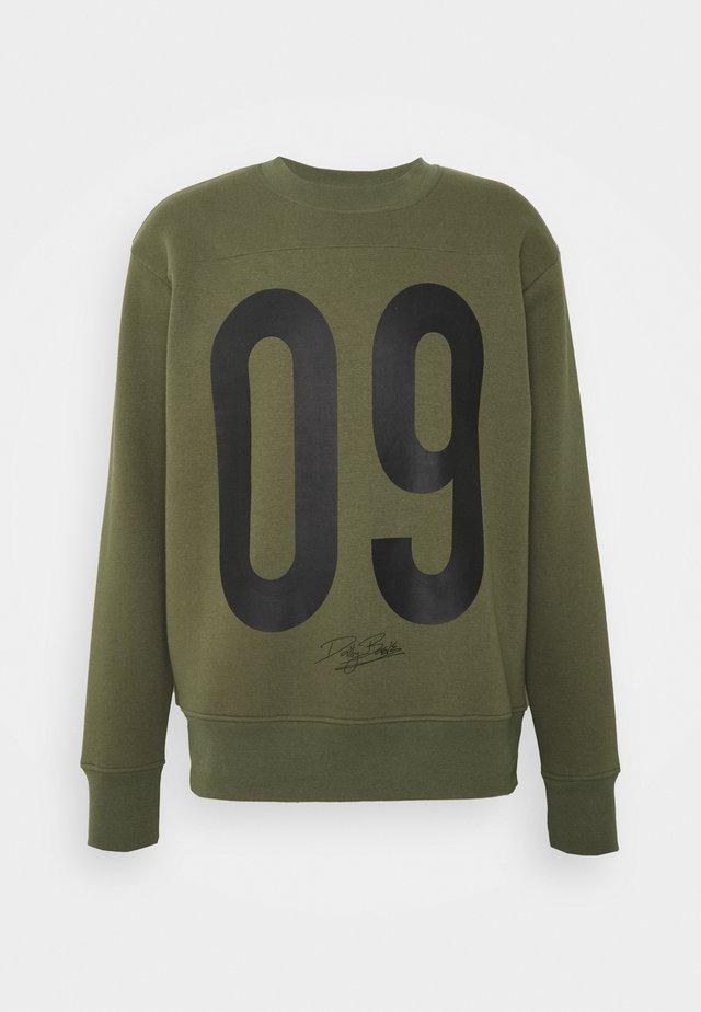 NUMBER CREW UNISEX - Sweatshirt - khaki