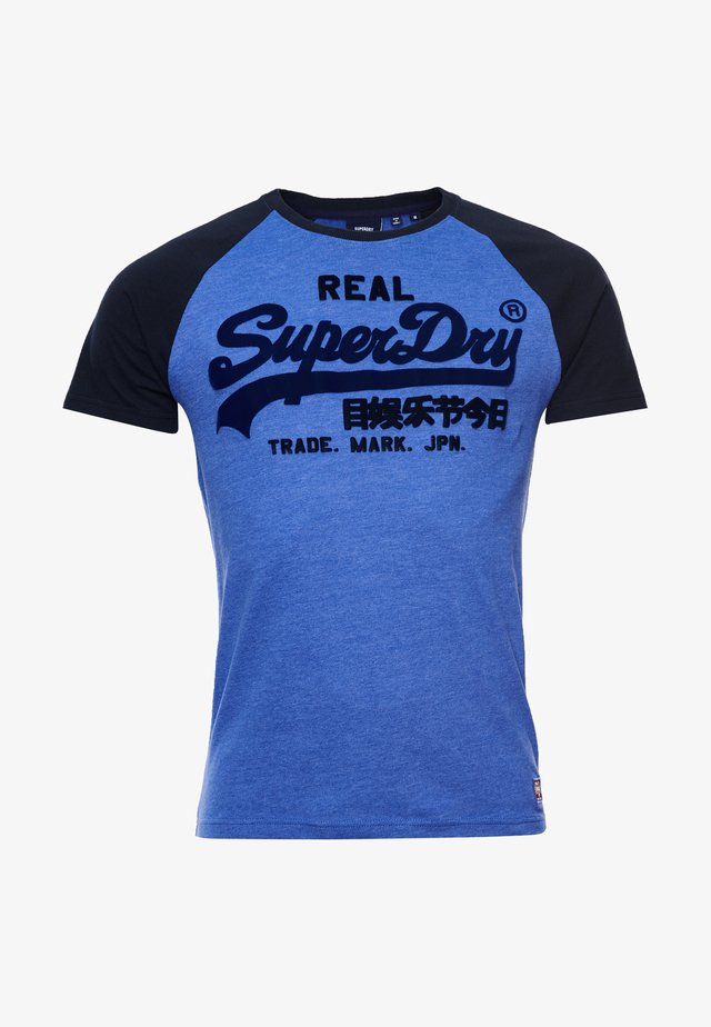 DUO RAGLAN - T-shirts print - dark cobalt marl