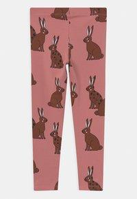 Lindex - MINI PRINTED 2 PACK - Leggings - Trousers - dark dusty pink - 1