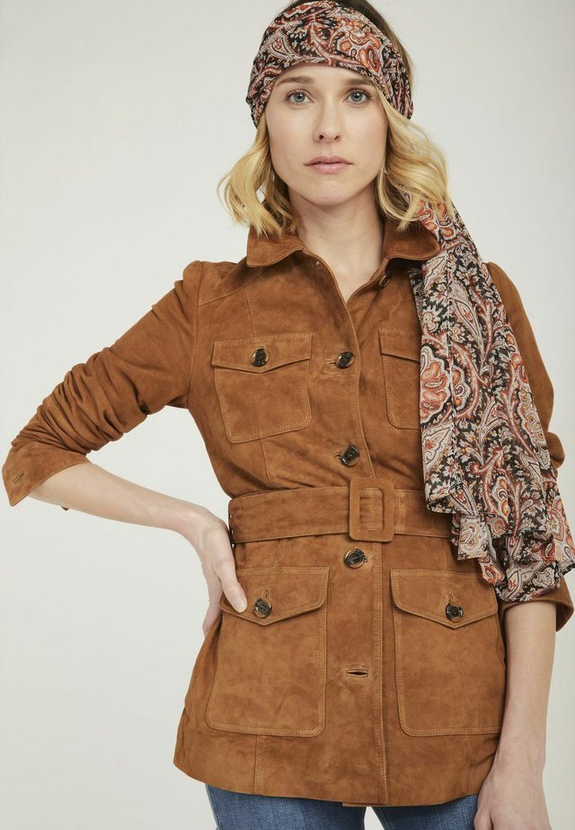 MENL - Leather jacket - brown