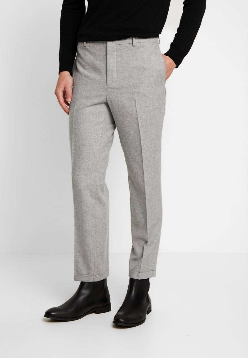 Shelby & Sons - THIRSK TROUSER - Pantalones - whtie grey