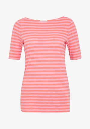 SHORT SLEEVE BOAT NECK STRIPED - T-shirt imprimé - multi/salty peach