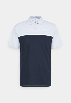 DRY VICTORY - Sports shirt - sky grey/obsidian/white