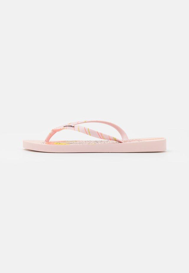 SEM IGUAL TATTOO FEM - T-bar sandals - pink/orange