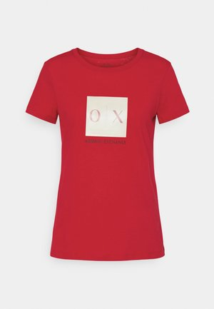 Print T-shirt - red liquorice