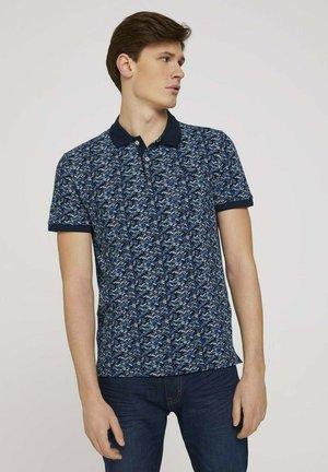 Poloshirt - navy base blue shades design