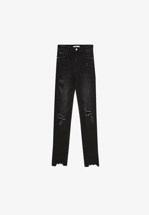 MIT HOHEM BUND UND RISSEN - Skinny džíny - black