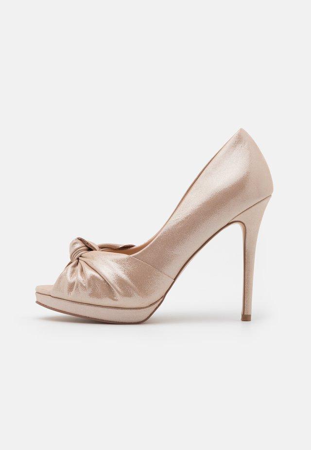 LILAS - Peep toes - soft metallic
