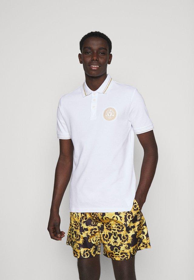 PLAIN  - Polo shirt - white/gold