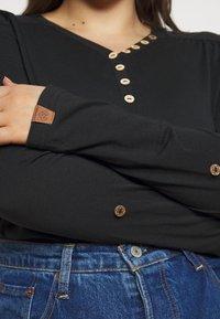 Ragwear Plus - PINCH SOLID PLUS - Top sdlouhým rukávem - black - 4