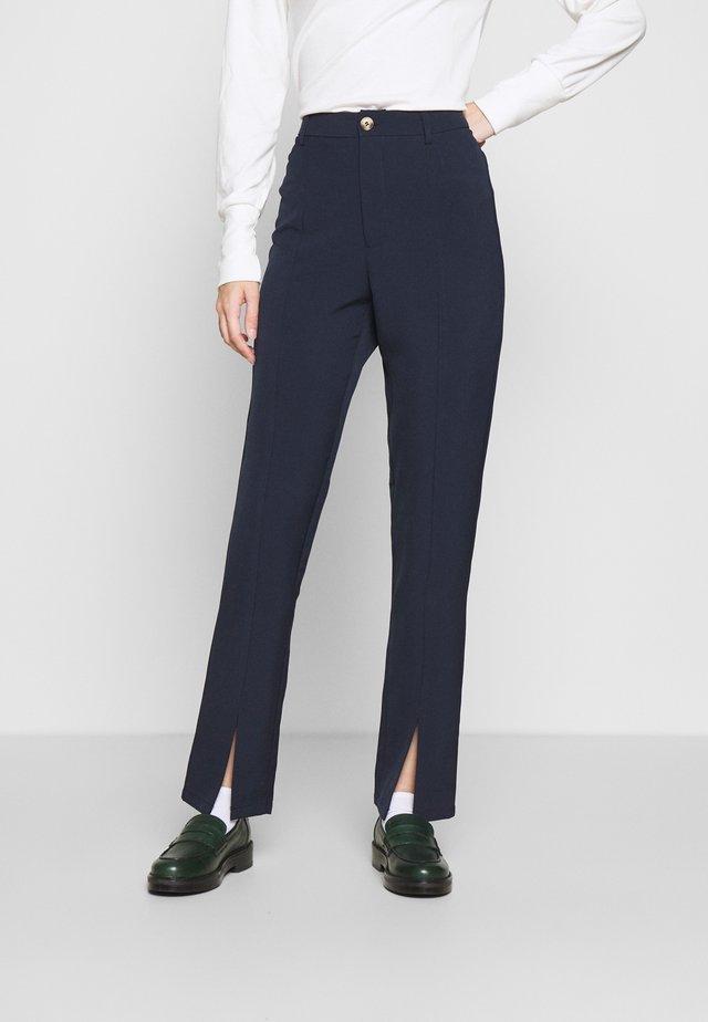 LUNI DRESSED PANT - Kalhoty - navy