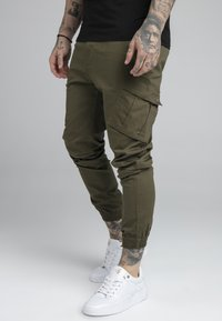 SIKSILK - FITTED CUFF PANTS - Cargobyxor - khaki - 0