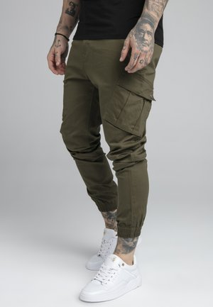 FITTED CUFF PANTS - Cargo trousers - khaki