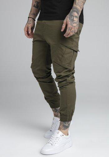 FITTED CUFF PANTS - Pantaloni cargo - khaki