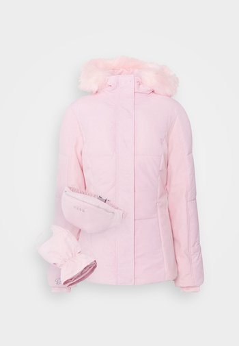 SKI JACKET WITH MITTENS AND BUMBAG  - Winter jacket - pink