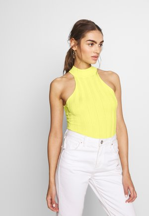 RACER NECK RIBBED BODYSUIT - Top - yellow