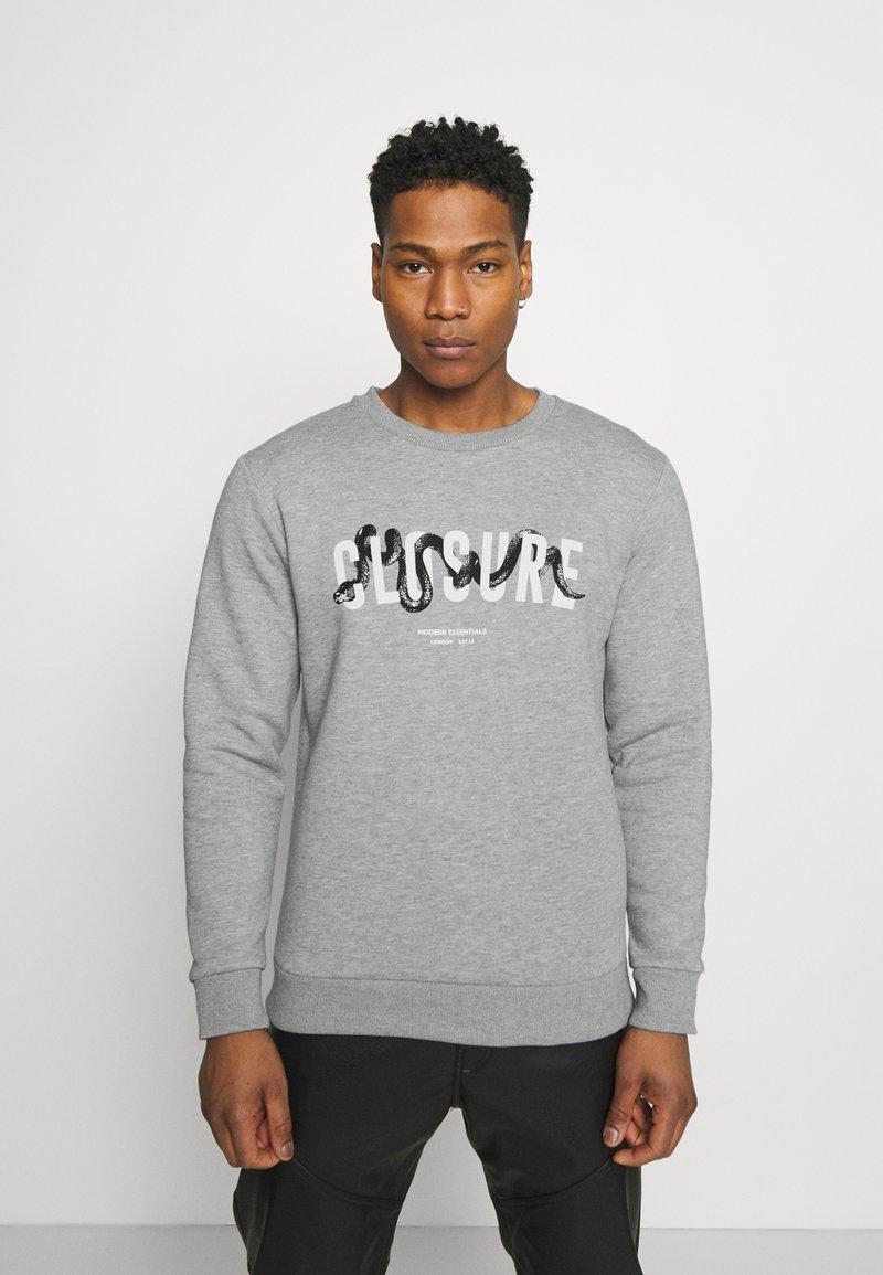 CLOSURE London - SNAKE LOGO CRENECK - Sweatshirt - grey