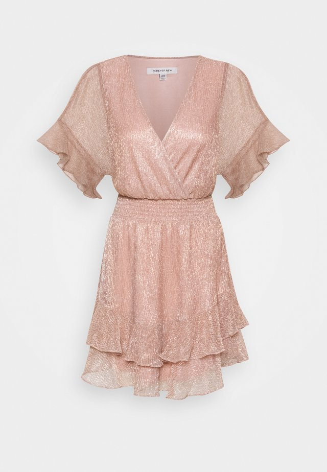 SOPHIE PLISSE MINI DRESS - Robe d'été - blush